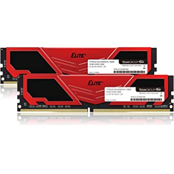 TEAM DDR4 2666Mhz PC4-21300 16GBx2枚(32GBkit)デスクトップ用 Elite Plus シリーズ 日本国内無期限保証(永久保証)正規品