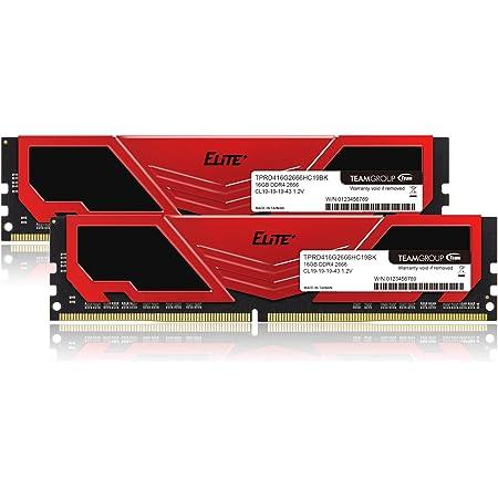 TEAM DDR4 2666Mhz PC4-21300 16GBx2枚(32GBkit)デスクトップ用メモリ Elite Plus シリーズ 日本国内無期限保証(永久保証)正規品