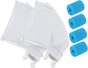 Oirtmiu Nylon Mesh Polaris 280/480 Pool Cleaner Parts Replacement Filter Bag for K13 K16 All Purpose Bag with Zipper, 4 Pa...