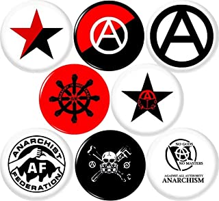 Anarchy 8 New 1 Inch (25mm) Set of 8 Pinback Buttons Badges Pins