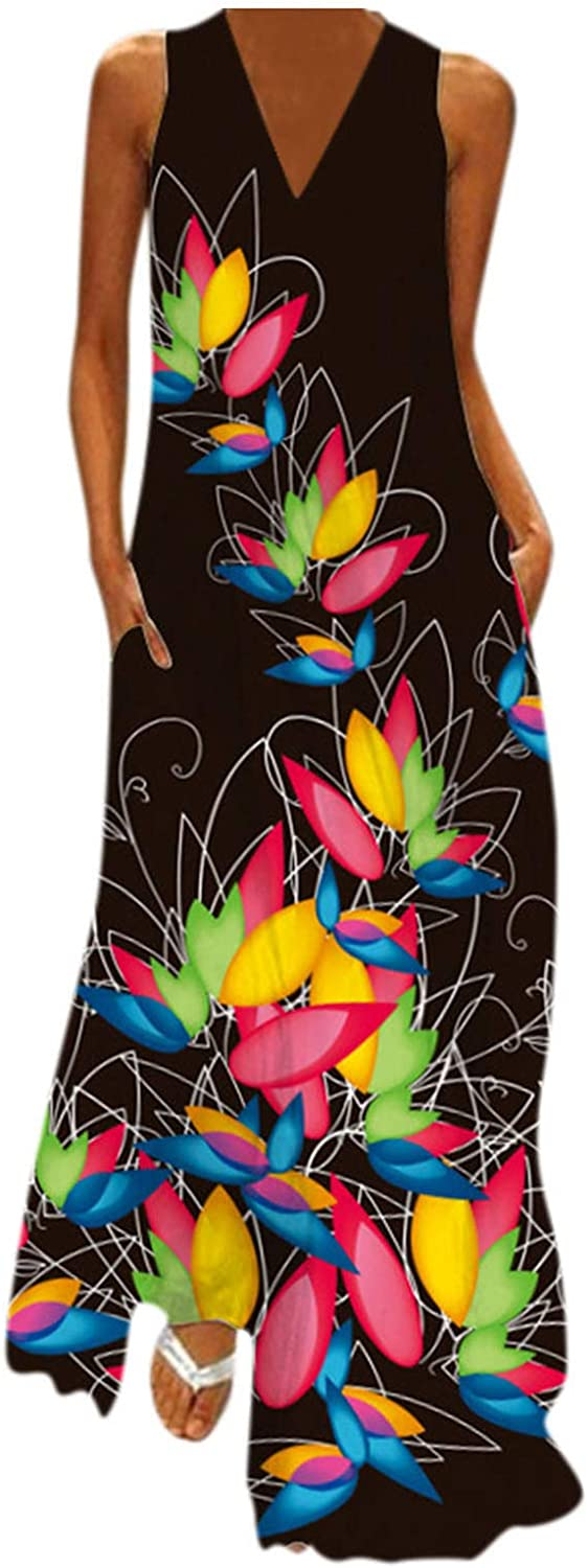 Great interest Womens Plus Omaha Mall Size Boho Long Maxi Dresses Loose Slee Casual Summer