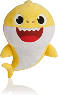 BabyShark Singing Plush - Music Sound Baby Shark Plush Doll Soft Baby Cartoon Shark Stuffed & Plush Toys Singing English Song For Kids - Yellow Color