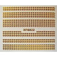 DIYゴールドネイルステッカー自己粘着ステッカーフラワーブランドデザインデカール用ネイルロゴステッカーネイルアート装飾マニキュア