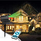 Innoo tech L2012-Y-01 Decoration Holiday Christmas Lights Projector with RF Remote for Outdoor, Red & Green