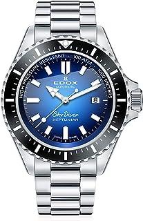 EDOX - Skydiver Neptunian 80120 3NM BUIDN - Reloj de pulsera para hombre (analógico, automático)
