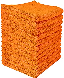 2 Wash Mitts 100/% Premium Cotton Face Cloth Towel Glove Body Wash COLOR ORANGE
