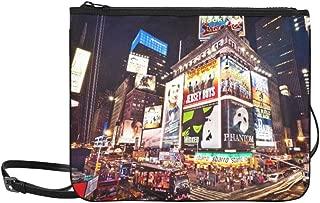 Manhattan New York City Times Square Featured Wit Pattern Custom High-grade Nylon Slim Clutch Bag Cross-body Bag Shoulder Bag
