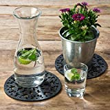 luxdag Filzuntersetzer für Gläser, Schalen oder Vasen, dunkelgrau (Farbe & Größe wählbar) - 3