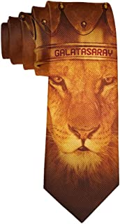 Fashion 3D Printed Rasta Lion Face Golden Crown Mens Ties - Neckties Gift for Men, Boys, Teens