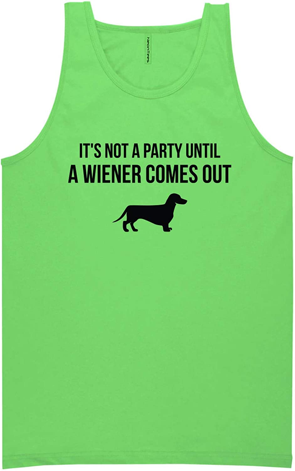It's Not A Party Until A Wiener Neon Green Tank Top - XX-Large