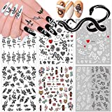 Kalolary 6pcs Snake Stickers Ongle Nail Art Sticker, 3D Auto-adhésif...