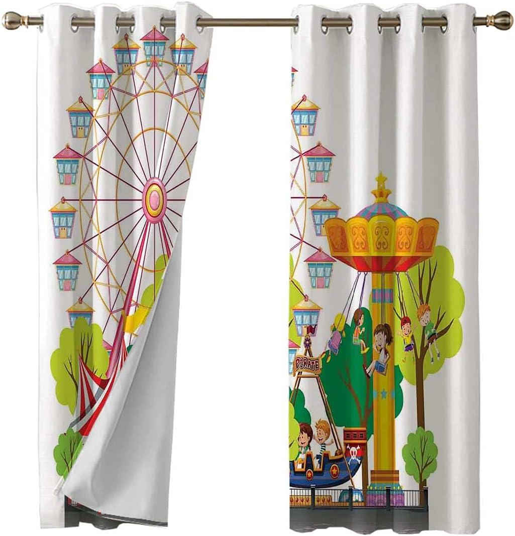 Drape Panel Top Grommet Carnival Treatment Challenge the lowest Nashville-Davidson Mall price Window Curtain