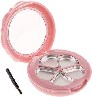 Fenteer 空ケース メイクアップパレット 空パレット コスメ 化粧品 詰替え DIY 収納ケース パウダー アイシャドー ブラッシュ リップグロス 2色選べる - ピンク