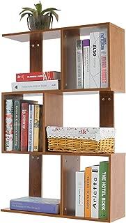 DL furniture - 4 Tiers Freestanding Tree Designed Bookshelves Storage Organizer | Pickled Oak Wood Tone