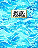 2020-2024 Five Year Planner: Blue Ocean Wave | 60 Month Cale