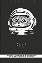 Personalized International Cat Day Notebook Journal for Cat Owner & Lovers Fun Pet Cat Lover Gift notebook journal with ca...