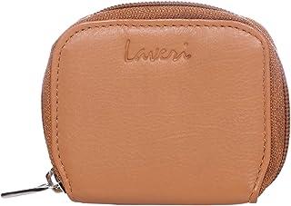 Laveri Unisex Coin Purse - Leather, Tan
