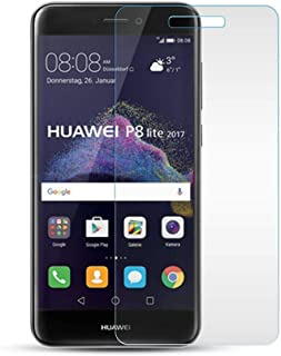 iCoverCase Compatible with Huawei P8 lite 2017 Screen Protector Glass[HD-Clear] [9H Hardness] Tempered Glass Screen Protector (2-Pack)