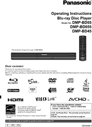 Amazon com: Panasonic Blu Ray Manuals: Books