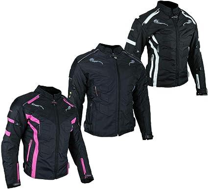 44 XXL HEYBERRY Damen Motorrad Jacke Motorradjacke Textil Schwarz Pink Gr