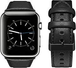 top4cus Compatible with 42mm/44mm Genuine Leather Band iwatch Strap Apple Watch Series 6 Series SE Series 5 Series 4 Serie...