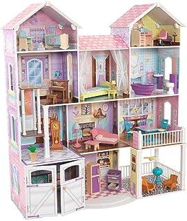 Kidkraft KK011 Country Estate Dollhouse, Pink/White/Blue