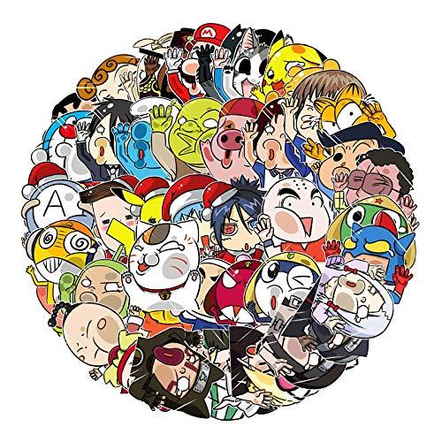 JUNZE Doodle Pegatinas Equipaje Maleta portátil Scooter Pegatinas de Dibujos Animados 51 Hojas