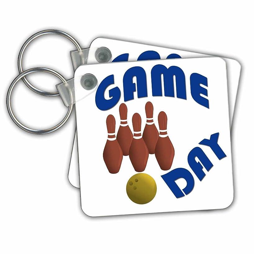 3dRose RinaPiro Sport Sayings - Game day. Bowling. - Key Chains