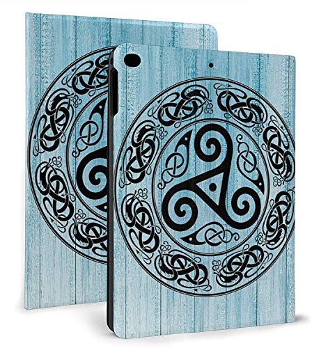 IPad 9.7 Inch Case 2018/2017 IPad Air 2/1 Case IPad Mini 4/5 7.9 Inch Cover,Viking Celtic Knot Belief Art Protective Stand Cover with Auto Sleep/Wake for IPad Tablet
