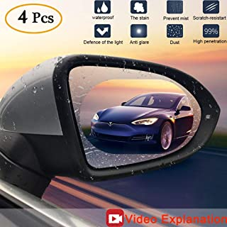 Anti Fog Film Car Rear View Mirror Waterproof Film Protective Film Anti Glare Rain-Proof Anti Water Mist, HD Nano Film Anti-Glare,Anti-Scratch,Rainproof
