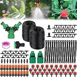 Amzeeniu 149 Pcs Micro Irrigation Goutte à Goutte Kit Arrosage Automatique,Automatique Kit d'irrigation Goutte à Goutte…