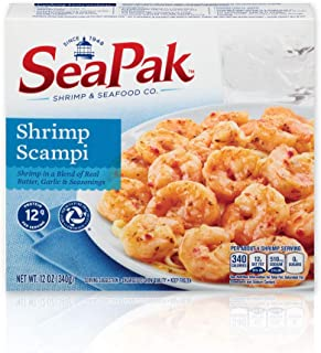 SeaPak Shrimp Scampi, Delicious Seafood in a Blend of Real Butter, Garlic & Seasoning, Frozen, 12 Ounces
