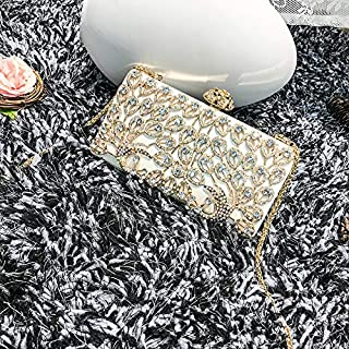 Female Clutch with Diamond Clutch Fashion Peacock Dinner Party Chain Small Square Bag Diagonal