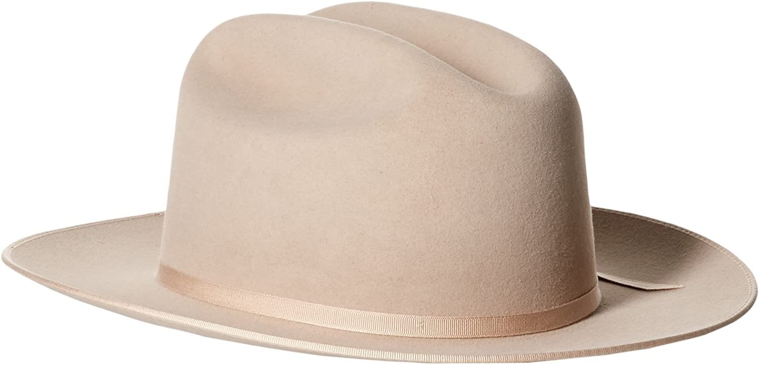 Stetson Hats Mens 6X Silver Belly Open Limited time cheap sale 4 2 3 Creas Pre Brim Road Selling