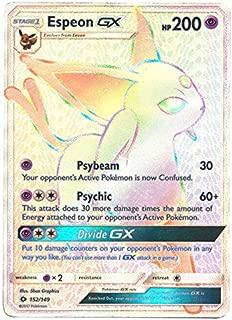 Pokemon Sun & Moon Base Set Hyper Rare Espeon-GX #152