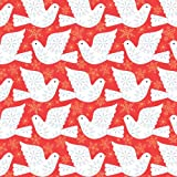 Dashwood Studio Skogen Scandi Weihnachts-Tauben auf rotem