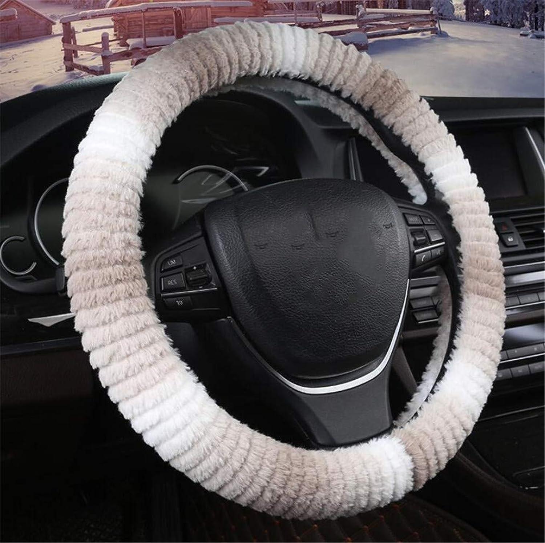 NonSlip Car Steering Wheel Cover, Warm Imitation Wool Winter Dream Car Steering Wheel Cover 38CM
