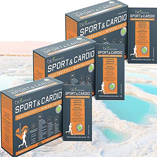 ELETTROLITI SPORTIVI E CARDIO + SALI |MINERALI NATURALI AL 100% DAL MAR MORTO - CITRATO DI MAGNESIO 350 mg - CITRATO DI ZINCO 10 mg - CITRATO DI POTASSIO 350 mg - CITRATO DI SODIO 57 mg | Pack of 3