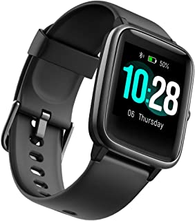 Fitness Tracker Smart Watchn with Heart Rate Monitor and 9 Sports Modes,Waterproof Color Touch Screen Activity Tracker wit...