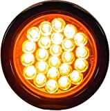 Buyers Products - SL40AR 4' Round LED Recessed Strobe Light, Amber