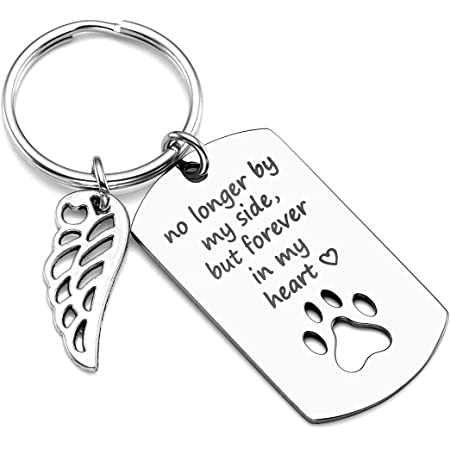 Memorial cat key chain personalized crochet gray sparkly wristlet backpack clip purse clip memorial pet you left paw prints on my heart