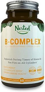 All 8 B-Complex Vitamins Plus Choline & Inositol | 60 Vegan Capsules | High Potency Multi B Vitamin with Pure Methyl B12, Folic Acid 400mcg | Best B-Vitamins Complex Supplement for Men & Women