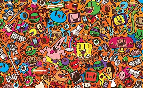 33Tdfc Bob Esponja y Piestar Rompecabezas Adultos 1000 Piezas , Puzzle Rompecabezas para Niños, Juguete De Regalo Ideal, La Mejor Decoración para El Hogar De Bricolaje