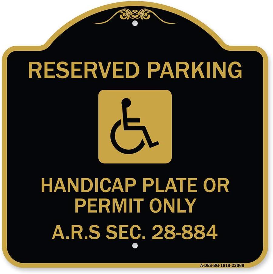 SignMission Designer Series Direct sale of manufacturer Sign - Parking Discount is also underway Reserved Handicap Pla