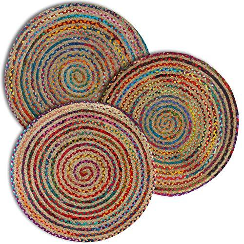 Signes effektiv Teppich Mandala, Mehrfarbig, 90x 90