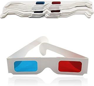 Nash 赤青 3D メガネ 紙 フレーム アナグリフ 画像 立体 映像 映画 鑑賞 映画館 テレビ ゲーム (50本セット)