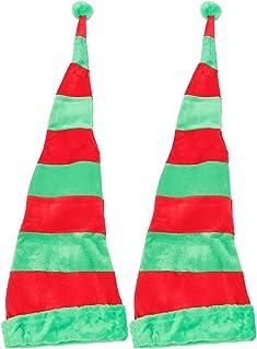 FOMIYES 2 Sztuk Christmas Elf Hat Santa Długi Paski Filc Hat Nowości Xmas Cap Zabawne Elfy Headpiece Dla Dzieci Dorośli Bo...