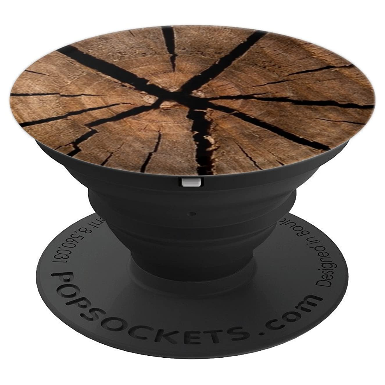 Old Cracked Wood Pattern Pop Socket Brown - PopSockets Grip and Stand for Phones and Tablets