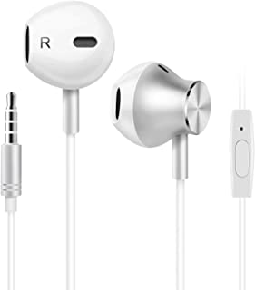 Amoner Wired Headphones, Earbuds Waterproof Sports Earphones, Stereo Sound Headphones Headsets with Built-in Mic for Phone...