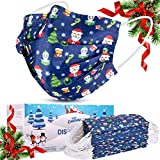 WAPIKE Christmas Disposable Face Mask, Face Masks of 50 Pack Disposable Mask